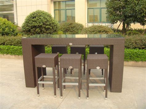 outdoor leisure furniture sets fashion resin wicker bar set