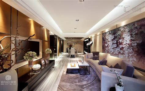 Brown Couch Room Designs by Sophisticated Home With Asian Tone