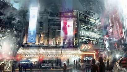 Future Street Wallpapers Futuristic Night Anime Cities