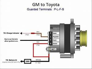Wiring Gm Alternator To Toyota Harness