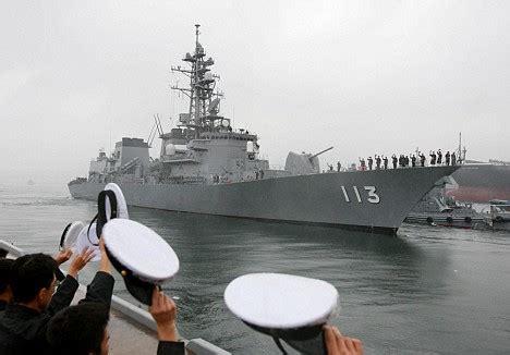 japan sends navy ship  china    time