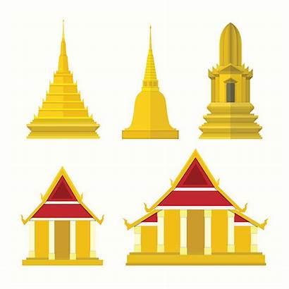 Temple Clipart Thai Thailand Elements Clip Illustrations