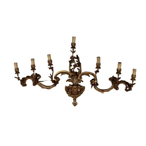 applique legno applique legno dorato illuminazione bottega 900