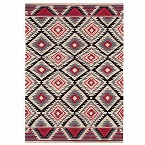 tapis kilim multicolore contemporain souple et leger a motifs With tapis kilim avec canape dossier basculant