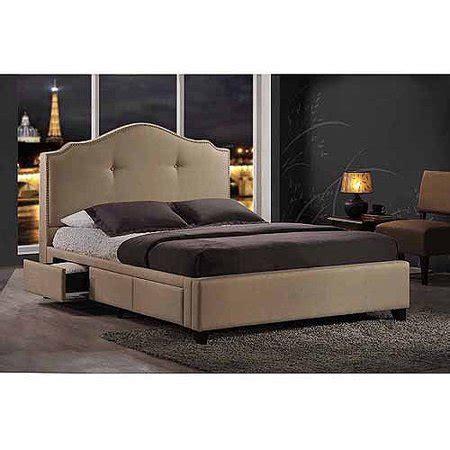 baxton studio armeena queen upholstered storage bed