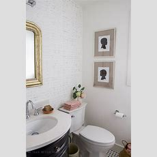 Black, White & French Powder Room Makeover  So Much