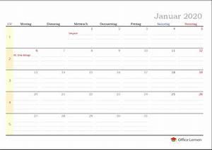 Tischkalender 3 Monate : kostenlose kalendervorlagen 2020 f r word und excel ~ Watch28wear.com Haus und Dekorationen