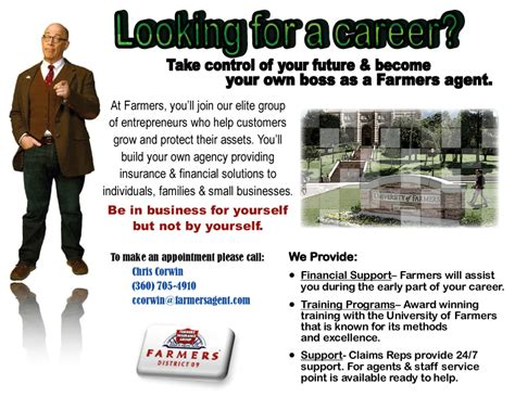 Farmers Insurance Recruiting Ad. by KarinaGarcia on DeviantArt