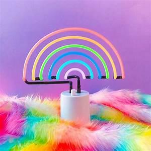 Neon Deco Chambre : rainbow neon light from sunny life studio diy neon lights pinterest licornes n on et ~ Teatrodelosmanantiales.com Idées de Décoration