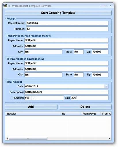 Word Receipt Template Ms Software Microsoft Receipts