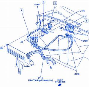Chevy Silverado 1500 1992 Front Engine Electrical Circuit