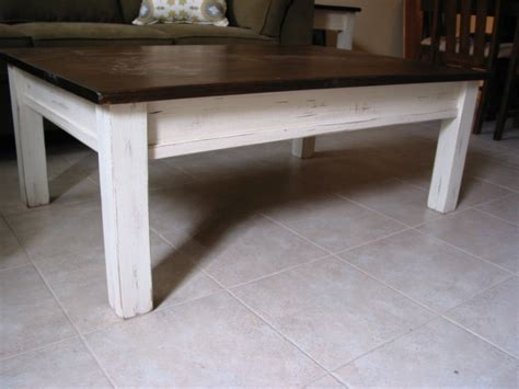 Rustic Coffee Table White Coffee Table Farm House Furniture