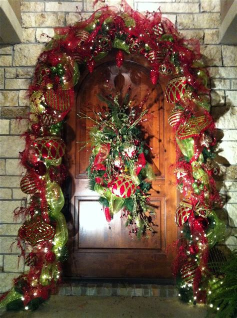 christmas front doors ideas  pinterest front