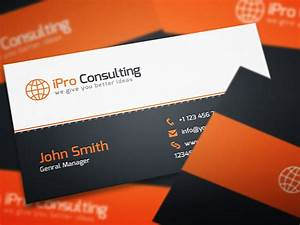 Business card on pinterest business card templates for Consulting business cards