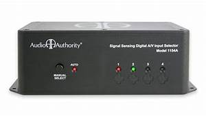 Audio Authority 1154a 4x1 Component Video And Audio
