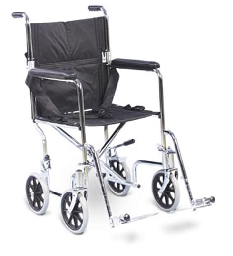 amg transport chair with swing away removable footrests 19 inch seat