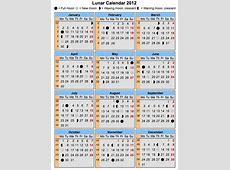 Calendar Lunar 2012