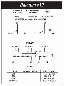 6 Kva Transformer Primary 240 Secondary 208y  120 Federal