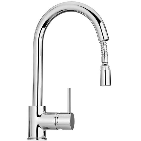 pull out sink mixer kitchen taps paini cox side lever pull out kitchen mixer tap 9180