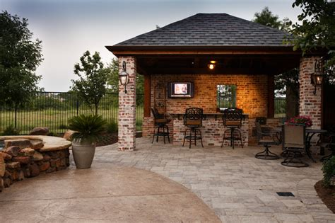 frisco tx new orleans style outdoor kitchen cabana