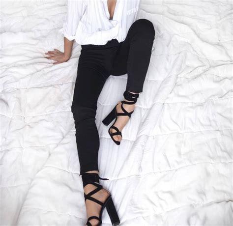 Shoes jeans black jeans sandals sandal heels high heel sandals lace up sandals black ...