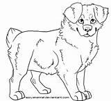 Shepherd Coloring Puppy Australian German Lineart Cartoon Popular Deviantart sketch template