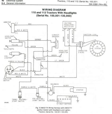 need a 112 wiring diagram deere tractor forum gttalk