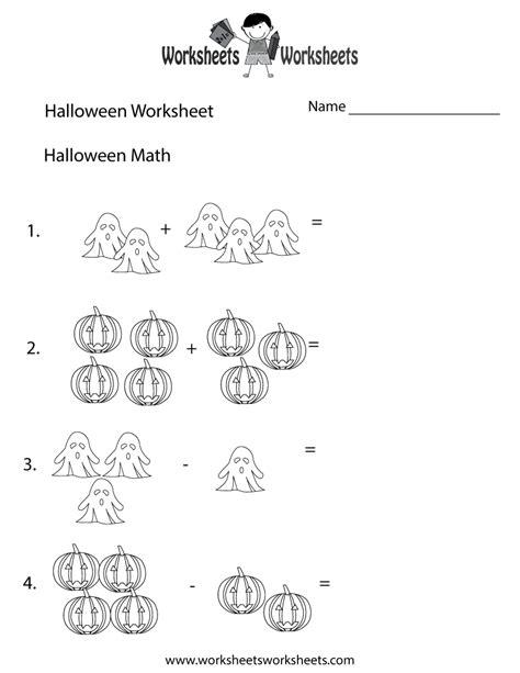 halloween math worksheet worksheets worksheets