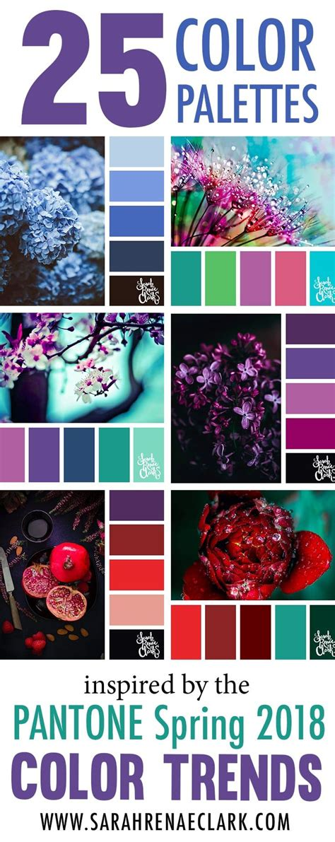 25 color palettes inspired by the pantone spring 2018