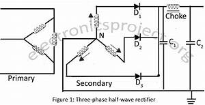 three phase half wave rectifier electronics project With full wave frequency doublers using diode and transformer circuit diagram