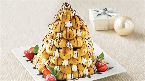cuisine de noel facile sapin de profiteroles recettes iga dessert choux