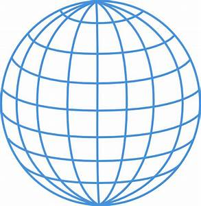 Thick Blue Wire Globe Clip Art At Clker Com
