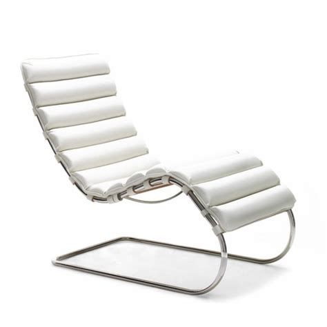chaise der rohe mies der rohe mr chaise leather steel furniture and design