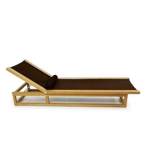 chaise textilene teak frame chaise sling textilene lounger