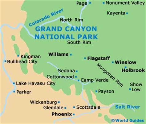 grand canyon maps  orientation grand canyon arizona
