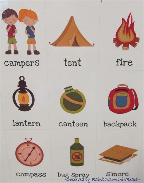 camping projects for preschoolers www rainbowswithinreach 244