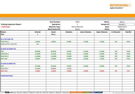 machine shop inspection report sample templates resume