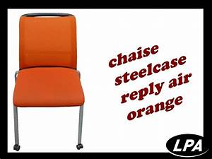 Chaise Visiteur Steelcase Reply Air Orange Chaise