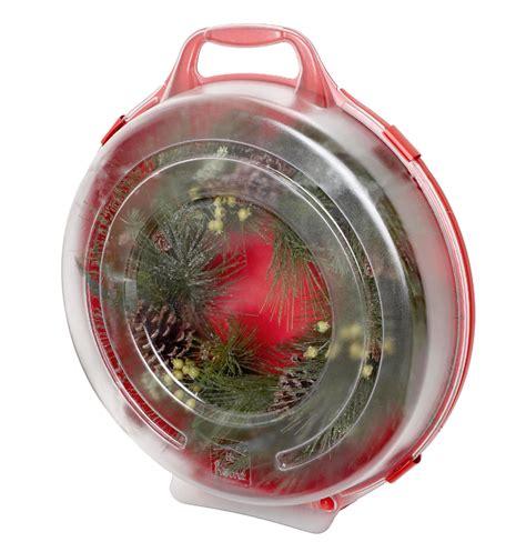 homz   red wreath storage box