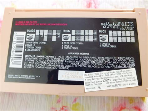 maybelline  blushed nudes eyeshadow palette review