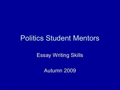 essay about mentor