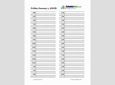 2016 Daily Planner Template Free Printable Templates