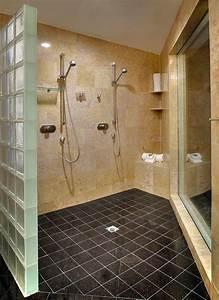 Mur En Brique De Verre Salle De Bain : carrelage de salle de bains 57 id es pour les murs et le sol ~ Dailycaller-alerts.com Idées de Décoration