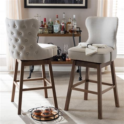 Upholstered Kitchen Stools by Kitchen Give Room A Classic Accent With Upholstered Bar