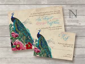 peacock wedding invitations great ideas for the busy peacock themed wedding invitations
