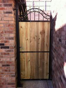 Metal And Woods : metal and wood garden gate hayes metal craft gates and ~ Melissatoandfro.com Idées de Décoration
