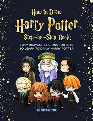 draw harry potter step  step book easy drawing lessons  kids  learn  draw harry