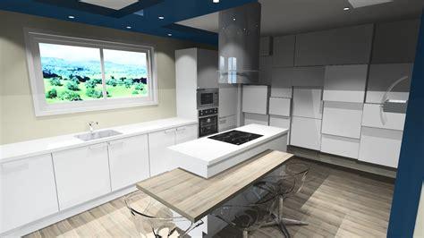 plan de cuisine moderne avec ilot central awesome cuisine blanche avec ilot with cuisine blanche
