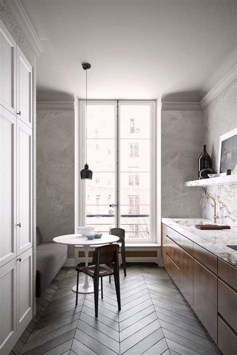 amenager une cuisine en longueur comment aménager une cuisine en longueur types avantages