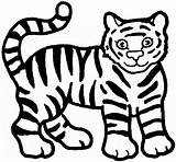 Tiger Coloring Pages Animals Animal Sheet sketch template